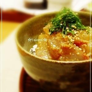 真鯛のごま味噌ミニ丼