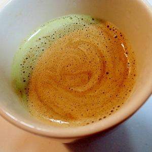 バリスタで シナモン香る抹茶カフェラテ♪