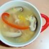 パプリカ・椎茸・卵の中華スープ