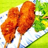 豚小間切れ肉と新玉葱☆串カツ