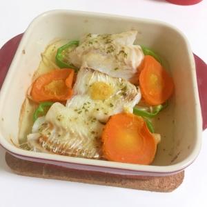 たらフィレと野菜のオーブン焼き