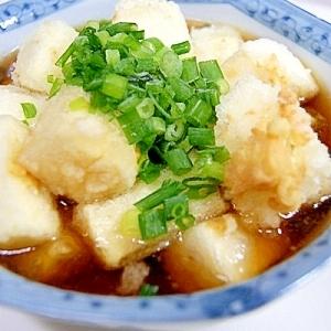 【Booのてきとーなレシピ】5分de揚げ出し豆腐