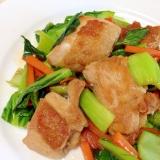 鶏肉とチンゲン菜の中華炒め