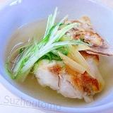 素材を活かして頂く 鯛あらスープ