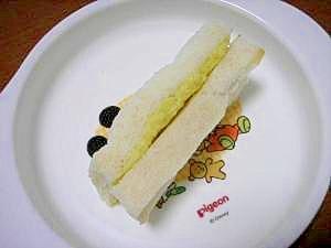 離乳食☆かぼちゃヨーグルトサンドイッチ♪