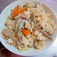 舞茸+鶏ごぼうの炊き込みご飯