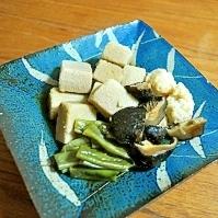 ヘルシー!高野豆腐の炊き合わせ