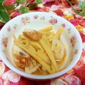 レンジで♡さつま芋と竹輪煮