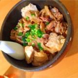 定番!きのこたっぷりの肉豆腐
