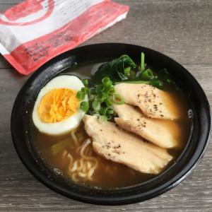サラダチキンと小松菜de醤油ラーメン♪