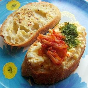 ヘルシー!?マヨ→水切りヨーグルト❤茹で卵サンド♪