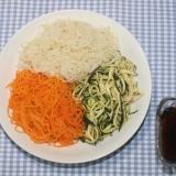 ドライベジタブル麺☆乾燥野菜麺で3色そうめん