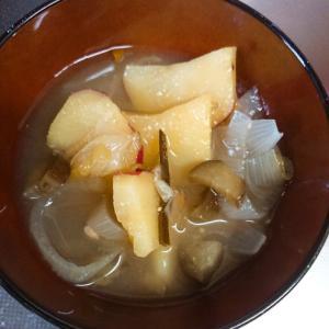さつまいもと茄子の味噌汁