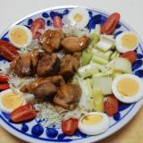 鶏もも肉の照焼き野菜添え