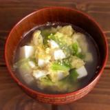 レタスと豆腐の溶き卵スープ