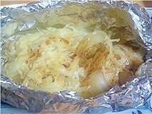 フライパンで!チーズ入り鱈のホイル焼き♪