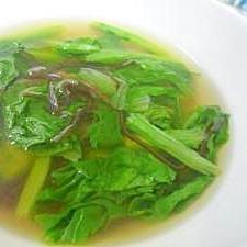 サンチュと塩昆布のスープ