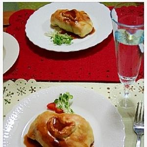 チキンのパイ包み
