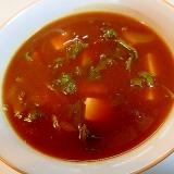 辛め ❤玉ねぎとわさび菜と豆腐の和風スープカレー❤