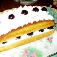 ブルーベリーケーキで、ちょっとしたお祝い