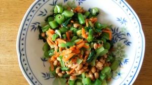 野菜もぱくぱく小松菜納豆あえ