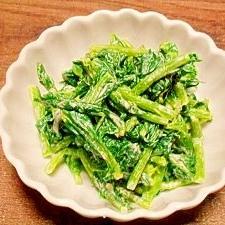 つぼみ菜☆キムチマヨ和え