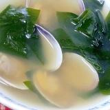 春は食から♪ 「アサリとわかめのスープ」