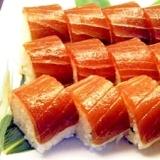 漬けマグロの押し寿司風