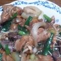 中華料理屋さんのレバニラ炒め(鶏レバー)