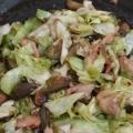 鶏むね肉とナスともやしの中華炒め