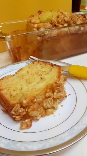 HMで(^^)ザクザク!リンゴのパウンドケーキ♪