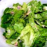 カニとレタスのサラダ