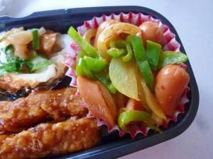 ☆お弁当に♪ 玉ねぎとピーマンのカレー炒め☆