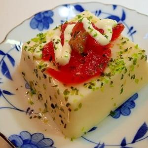 醤油麹/マヨ/あおさかけて 福神漬けの卵豆腐