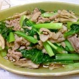 簡単☆小松菜&豚肉炒め