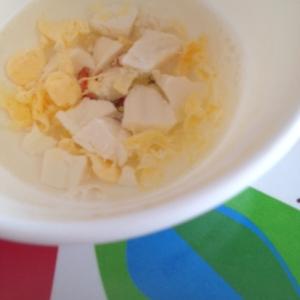 離乳食☆豆腐と卵のスープ