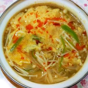 野菜たっぷり酸辣湯風春雨スープ++