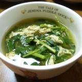 簡単!モロヘイヤと卵の中華スープ