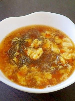 もずくの中華風かきたまスープ