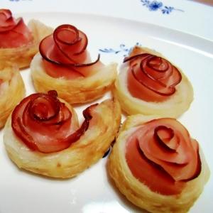 ハムの薔薇パイ