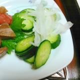 筍&人参煮と新鮮野菜のサラダ
