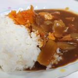 豆腐と豚肉のカレー*