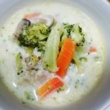 ☆低糖質☆鶏肉とブロッコリーのクリームスープ♪