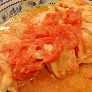 電子レンジで★トマト味噌チキン