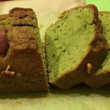 簡単♪ナッツと抹茶のしっとりパウンドケーキ