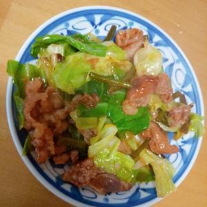 牛カルビと春キャベツの炒め物