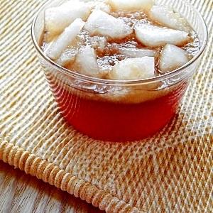 紅茶と梨のゼリー♪
