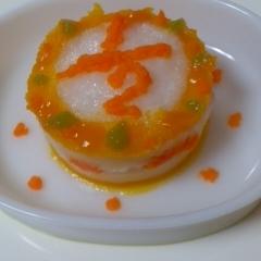*:☆ 離乳食・ハーフバースデーケーキ ☆:*