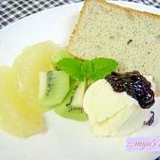ふわふわマロンシフォンケーキ