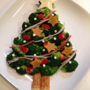 クリスマスに!サラダでクリスマスツリー★